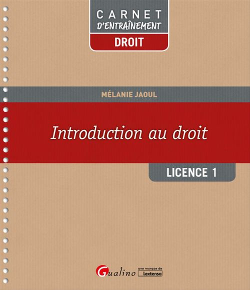 Introduction au droit - Licence 1 - 1e édition