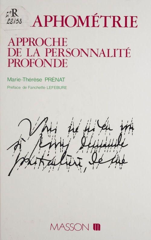 Marie-Thérèse Prénat Graphométrie