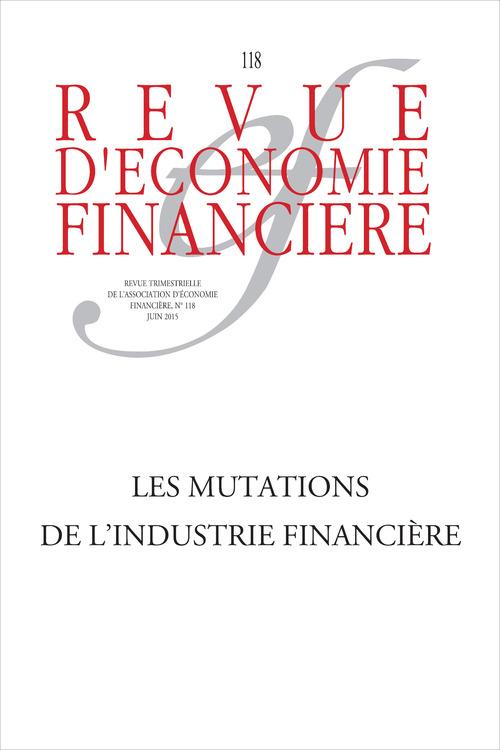 Ouvrage Collectif Les mutations de l'industrie financière