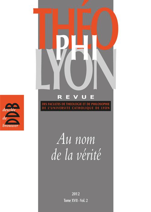 Théophilyon, N° 17 Volume 2, Nove