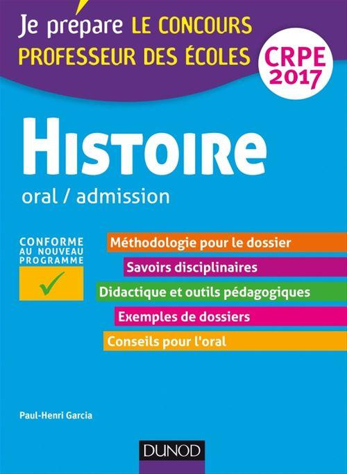 Paul-Henri Garcia Histoire - Professeur des écoles - Oral, admission - CRPE 2017