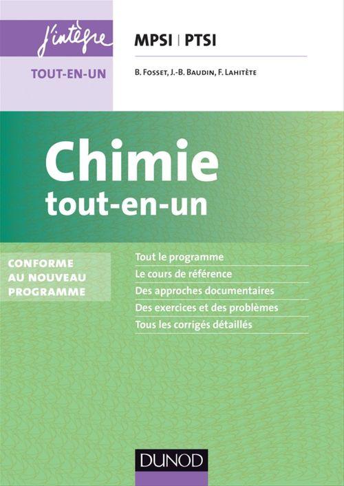 Chimie tout-en-un MPSI-PTSI - 2e éd.
