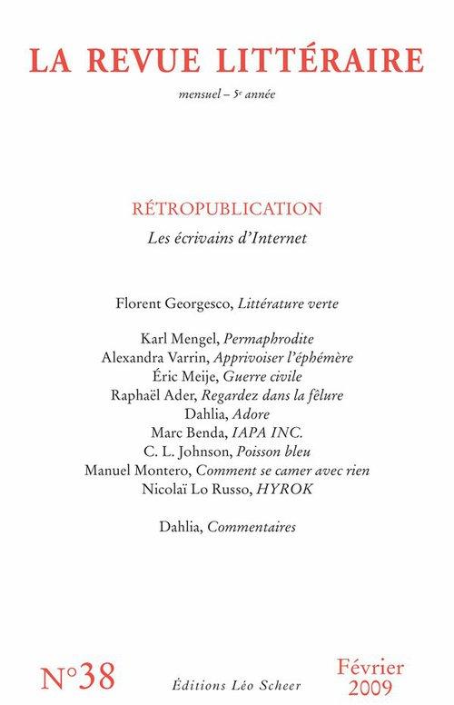 Collectif La Revue Littéraire n° 38