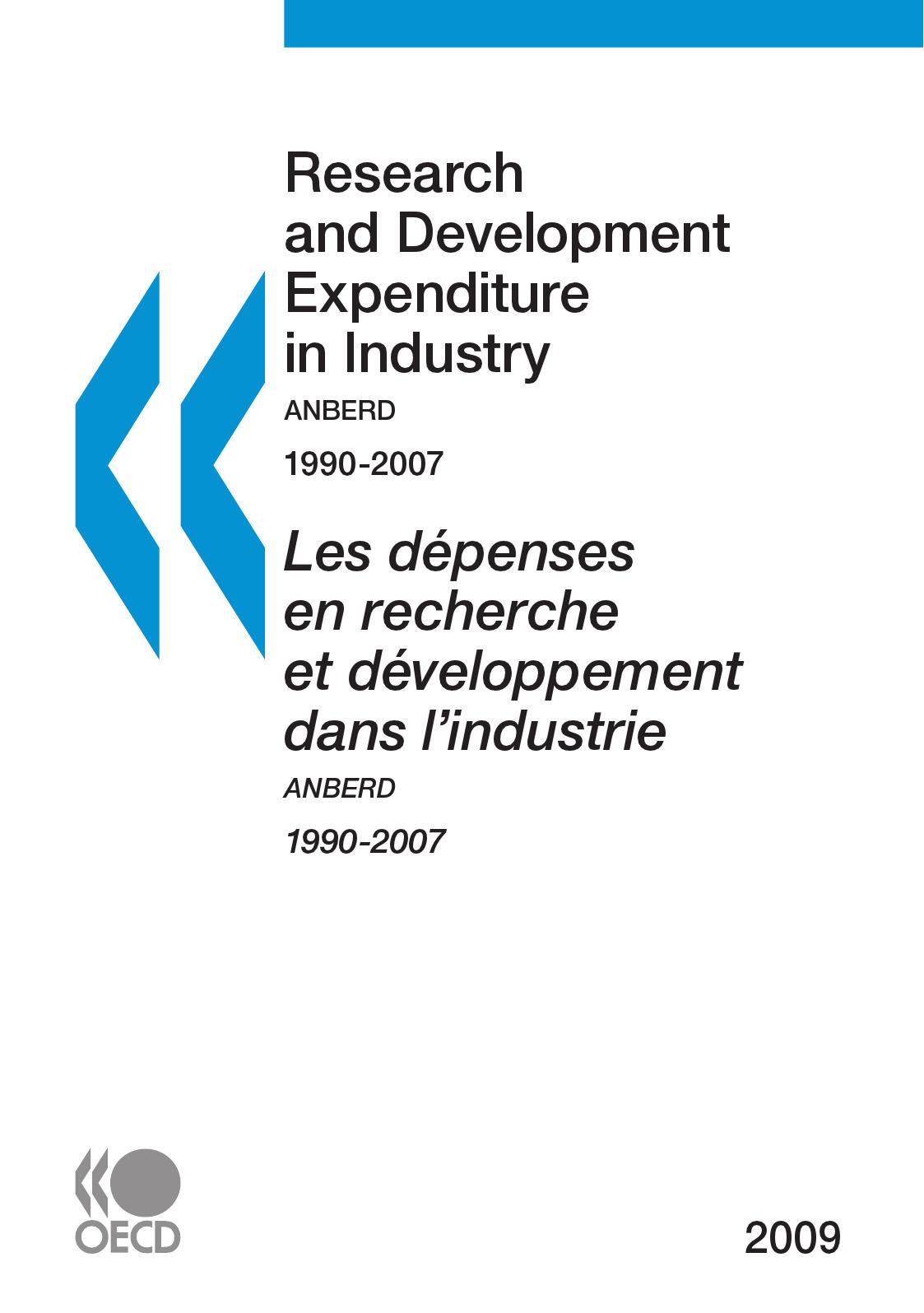 Collective Les dépenses en recherche et développement dans l'industrie 2009