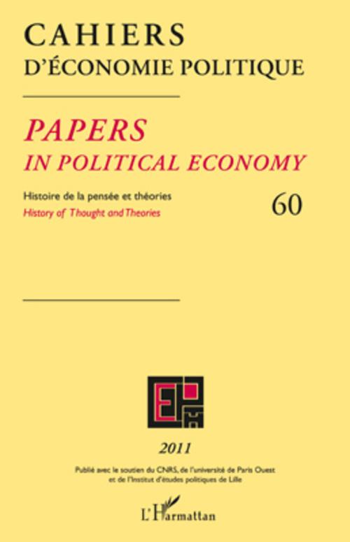 Cahiers D'Economie Politique Cahiers d'economie politique t.60