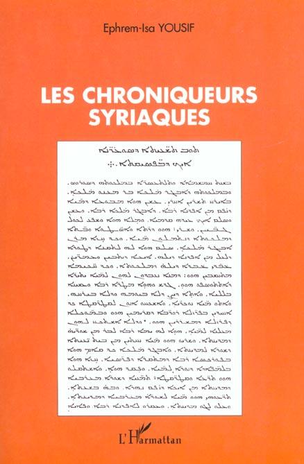 Ephrem-Isa Yousif Les chroniqueurs syriaques