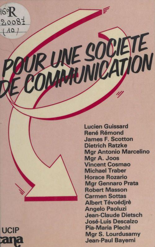 Pour une société de communication