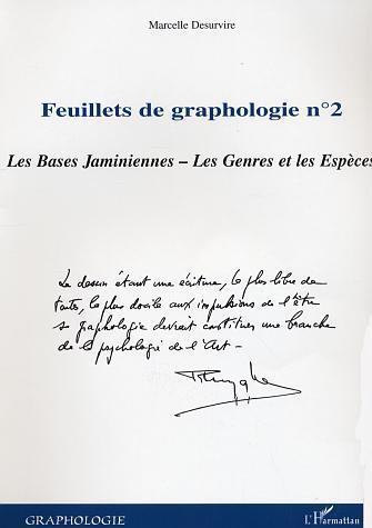 Marcelle Desurvire Feuillets N.2 De Graphologie ; Les Bases Jaminiennes ; Les Genres Et Les Especes