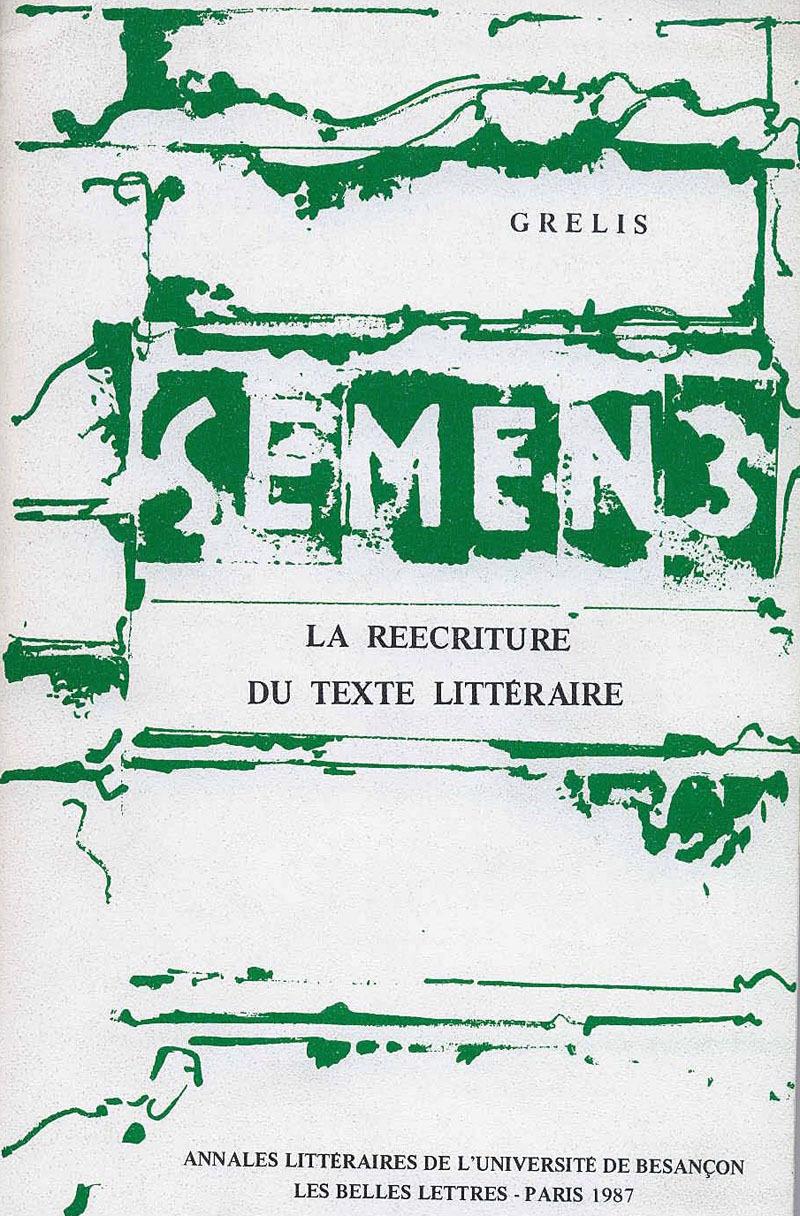 Presses Universitaires De Franche-Comté La réécriture du texte littéraire