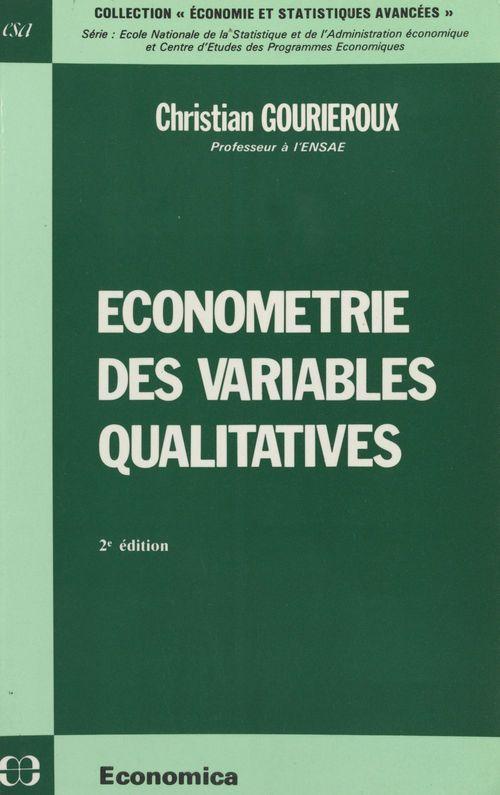 Économétrie des variables qualitatives