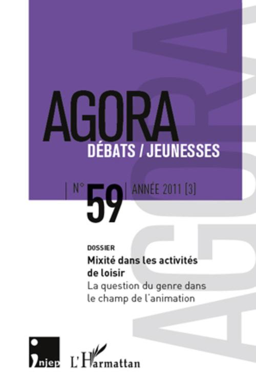 Revue Agora Debats Jeunesses Mixité dans les activités de loisir ; la question du genre dans le champ de l'animation