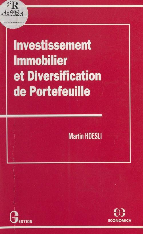 Investissement immobilier et diversification de portefeuille