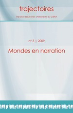 3 | 2009 - Mondes en narration - Trajectoires