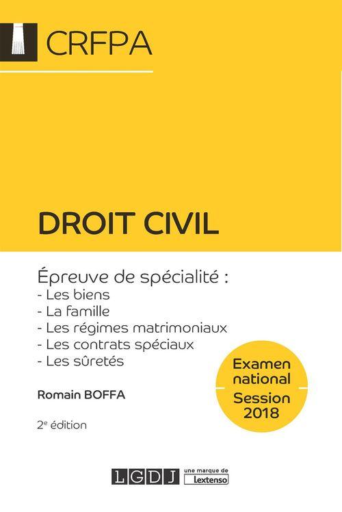 Romain Boffa Droit civil - CRFPA - Examen national Session 2018 - 2e édition