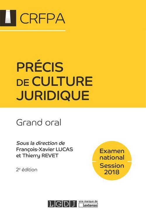 Collectif Précis de culture juridique 2018 - 2e édition