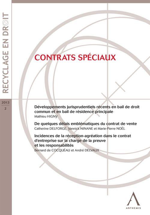 Collectif Contrats spéciaux (Droit belge)