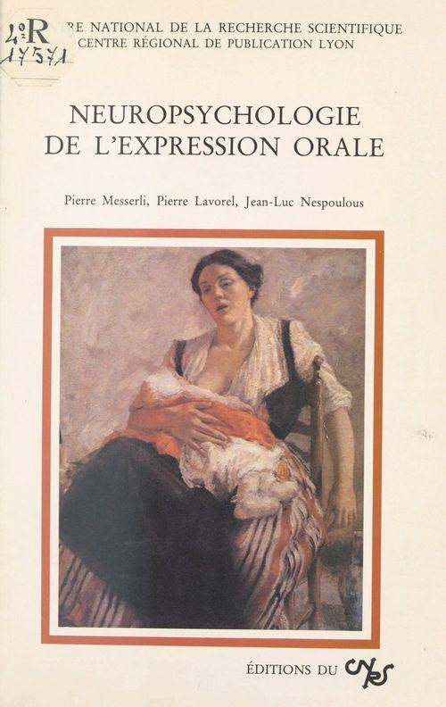 Neuropsychologie de l'expression orale