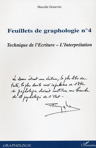 Marcelle Desurvire Feuillets N.4de Graphologie ; Techniques De L'Ecriture ;L'Interpretation