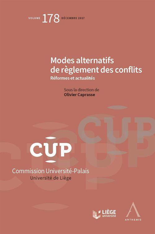 Olivier Caprasse Modes alternatifs de règlement des conflits
