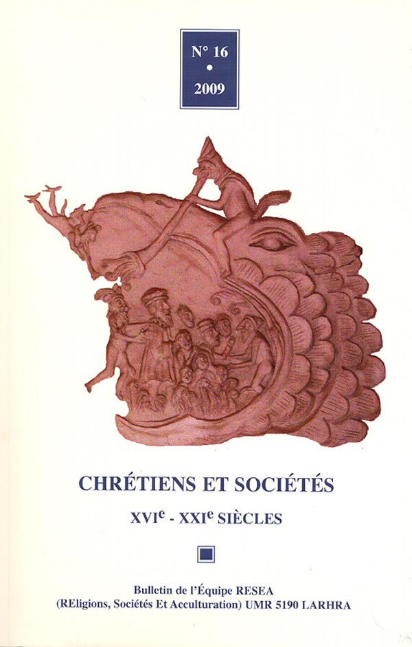 16 | 2009 - Varia - Chrétiens sociétés