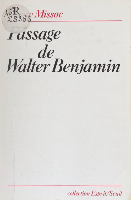 Passage de Walter Benjamin