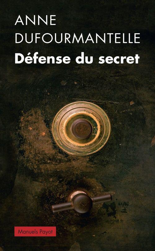 Anne Dufourmantelle Défense du secret