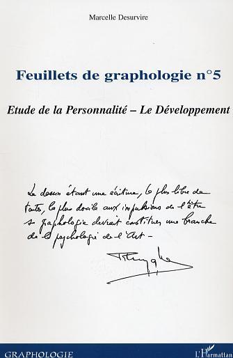 Marcelle Desurvire Feuillets N.5 De Graphologie ; Etude De La Personnalite ; Le Developpement