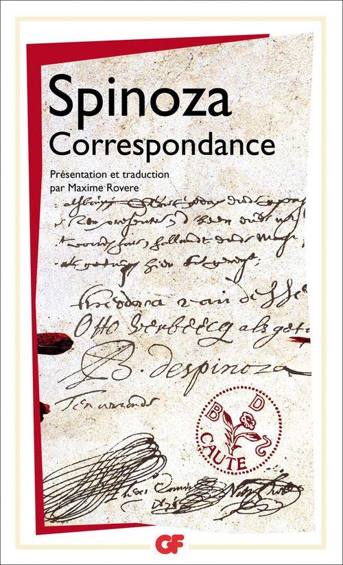 Baruch Spinoza Correspondance