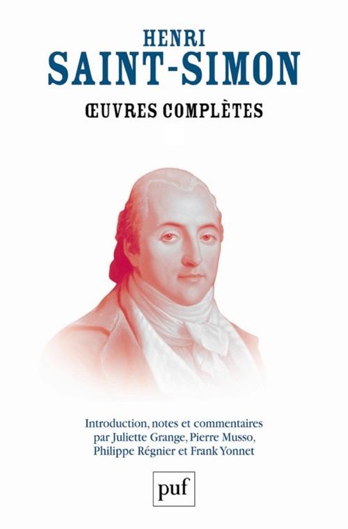 Henri Saint-Simon OEuvres complètes de Saint-Simon