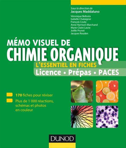 Collectif Mémo visuel de chimie organique