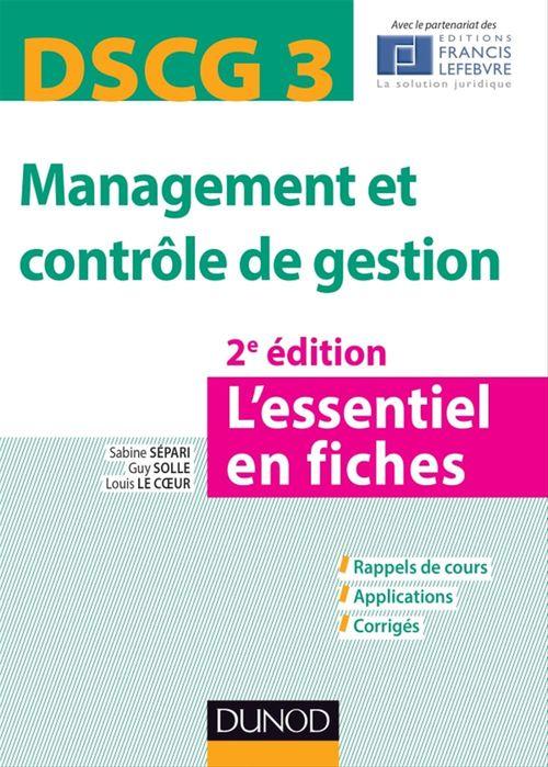 DSCG 3 Management et contrôle de gestion - 2e éd