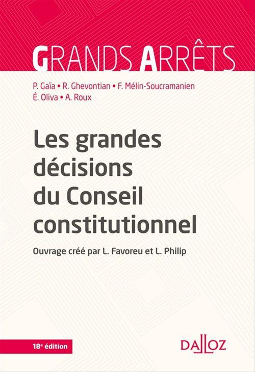 Collectif Les grandes décisions du Conseil constitutionnel