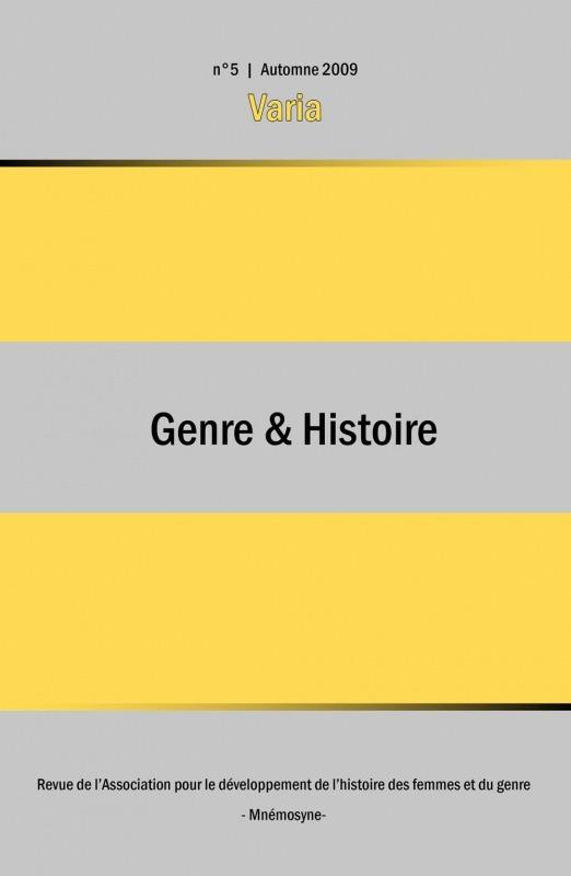 5 | 2009 - Varia - Genre & Histoire