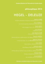 Hegel - Deleuze ; philosophique 2012