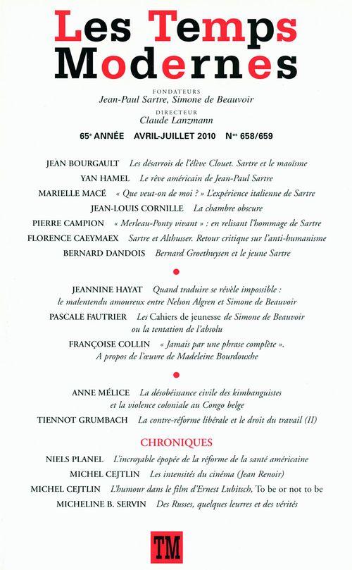 Les Temps Modernes n° 658-659 (Avril - juillet 2010)