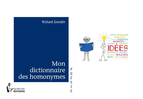 Richard Grondin Mon dictionnaire des homonymes