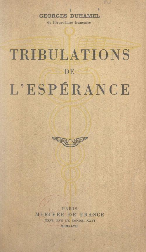 Tribulations de l'espérance