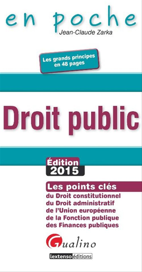 Jean-Claude Zarka Droit public (édition 2015)