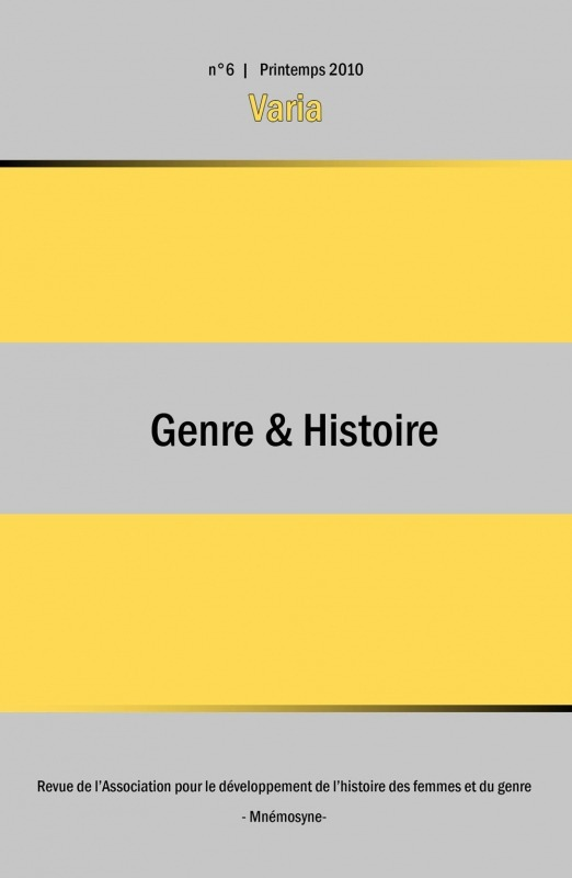 6   2010 - Varia - Genre & Histoire