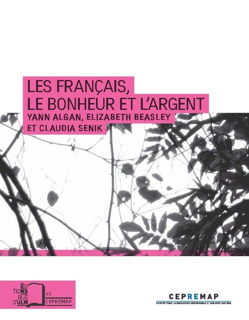 Yann Algan Les Français, le bonheur et l'argent