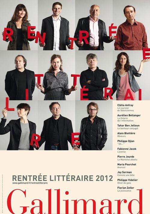 EXTRAITS - La rentrée littéraire Gallimard 2012