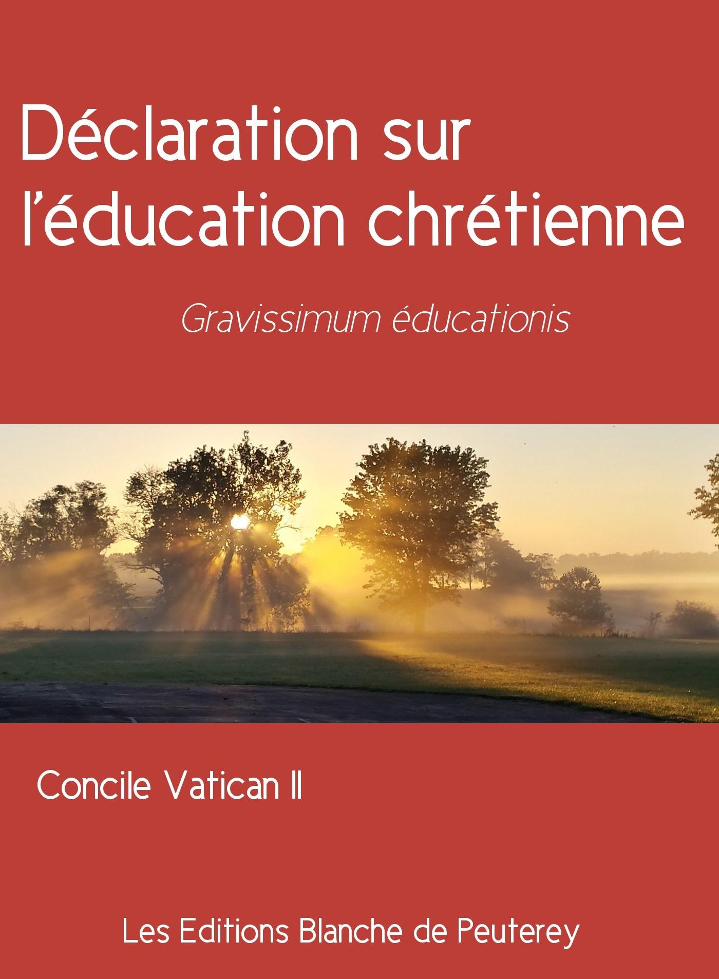 Concile Vatican Ii Déclaration sur l'éducation chrétienne