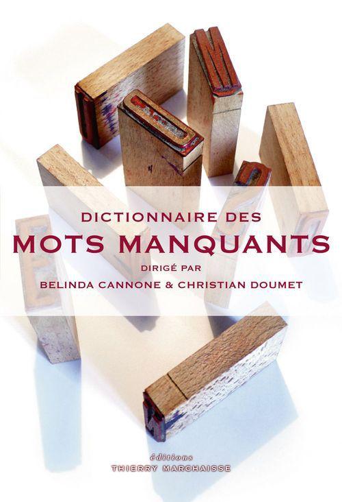 COLLECTIF Dictionnaire des mots manquants