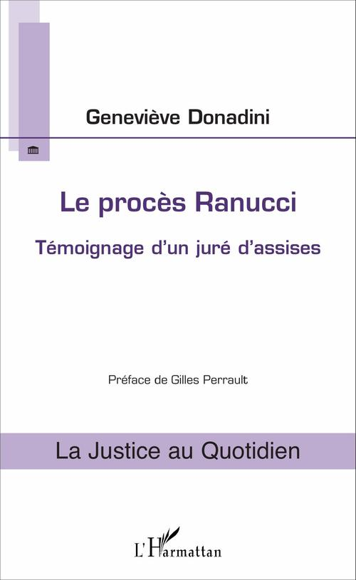 Geneviève Donadini Le procès Ranucci