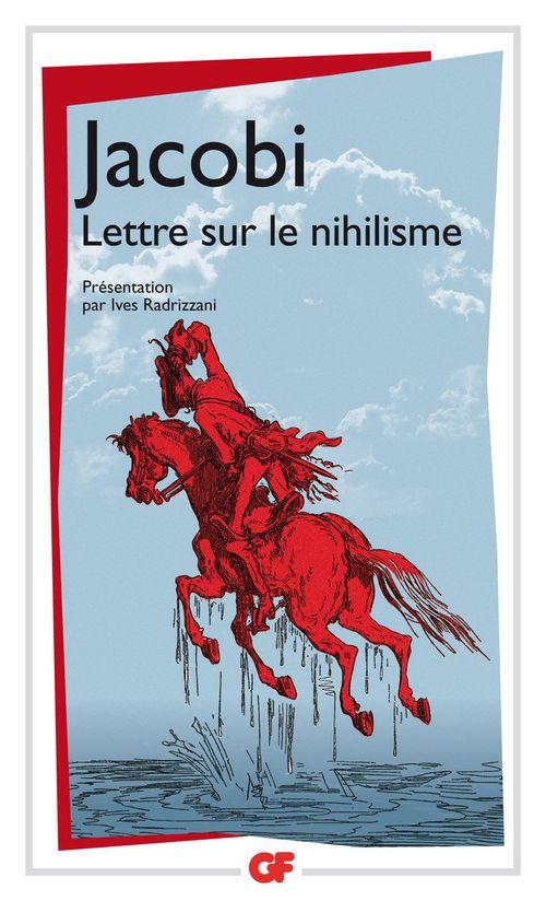 Friedrich Jacobi Lettre sur le nihilisme