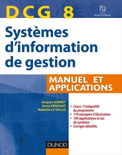 DCG 8 Systèmes d'information de gestion - Manuel et applications