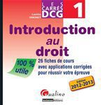 DCG 1 ; introduction au droit 2012-2013