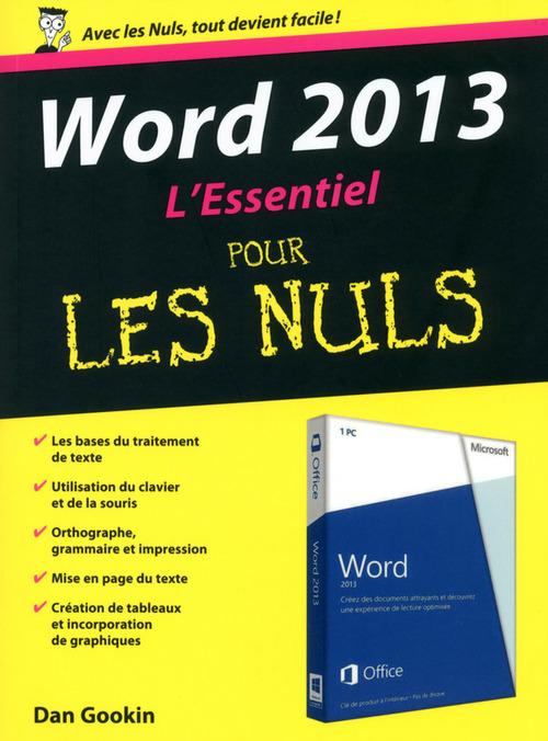 Dan GOOKIN Word 2013 Essentiel pour les Nuls