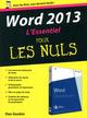 Word 2013 ; l'essentiel pour les nuls