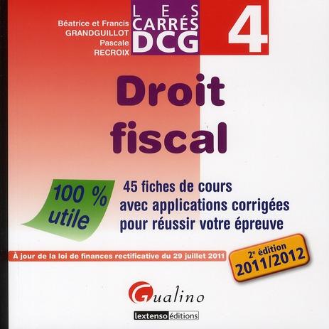 Pascale Recroix Droit fiscal (édition 2011/2012)